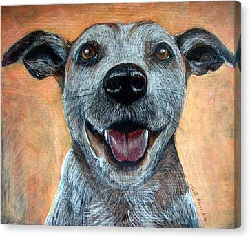 A Happy Mutt Canvas Print