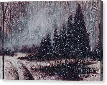A Hazy Shade Of Winter  Canvas Print
