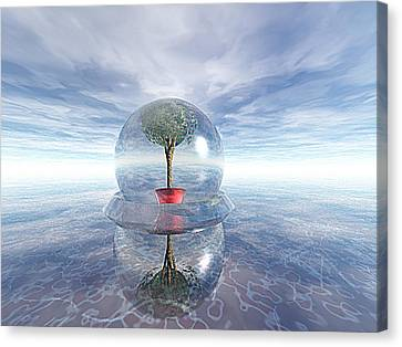 A Healing Environment Canvas Print by Oscar Basurto Carbonell
