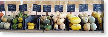 Grocery Store Canvas Print - A Healthy Line Up by Karyn Robinson