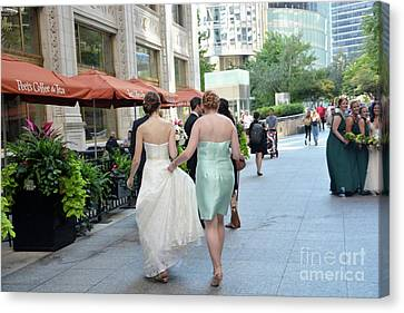 Maid Of Honor Canvas Print - A Helping Hand by Andrea Simon