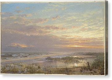 A High Tide At Atlantic City Canvas Print by William Trost Richards