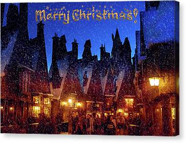 A Hogsmeade Christmas Canvas Print