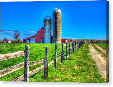 A Hole In The Fence Tennessee Farm Art Canvas Print by Reid Callaway