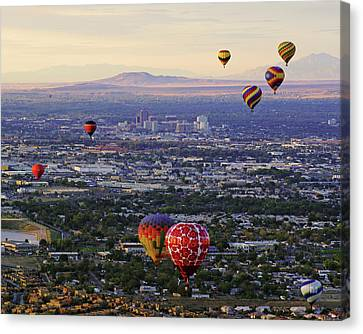 A Hot Air Ride To Albuquerque Cropped Canvas Print