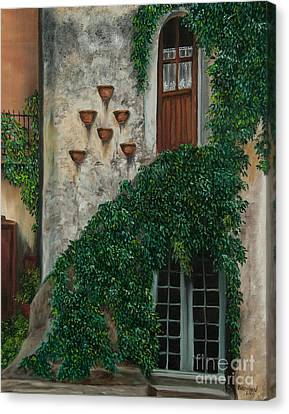 A House Of Vines Canvas Print by Charlotte Blanchard