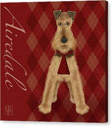 A Is  For Airedale Canvas Print