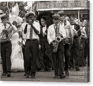 A Jazz Wedding In New Orleans Canvas Print by Kathleen K Parker