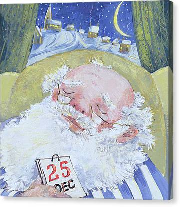 Father Christmas Canvas Print - A Job Well Done  by David Cooke