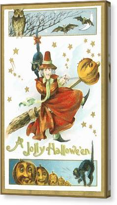 A Jolly Halloween Canvas Print