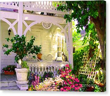 A Key West Porch Canvas Print by David  Van Hulst