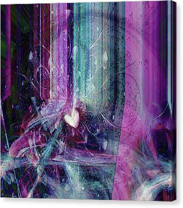 Canvas Print featuring the digital art A Kind Heart by Linda Sannuti