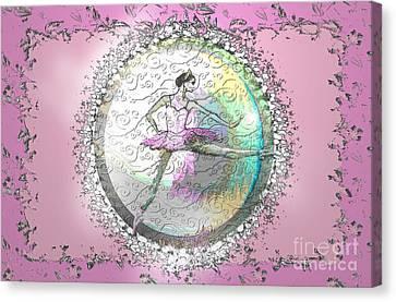 A La Second Pink Variation Canvas Print by Cynthia Sorensen