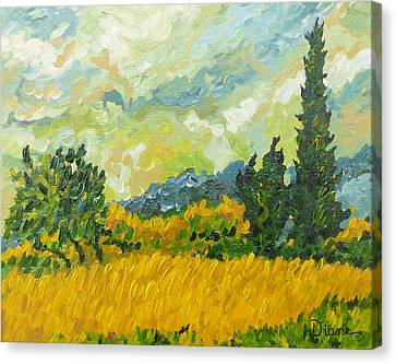 A La Van Gogh Canvas Print by Diane Arlitt