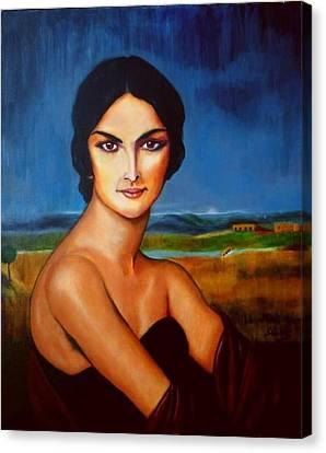 A Lady Canvas Print by Manuel Sanchez