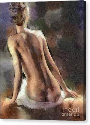 A Lady No.2 Canvas Print by Dragica Micki Fortuna
