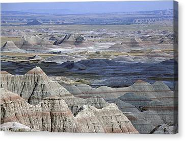 A Landscape Of The Badlands In South Canvas Print by Joel Sartore