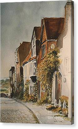 Canvas Print featuring the painting A Lane In Rye by Beatrice Cloake