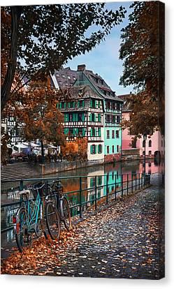 A Leafy Lane In Strasbourg  Canvas Print by Carol Japp
