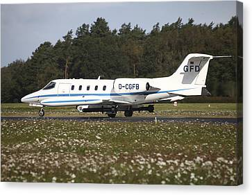 A Learjet Of Gfd With Electronic Canvas Print by Timm Ziegenthaler