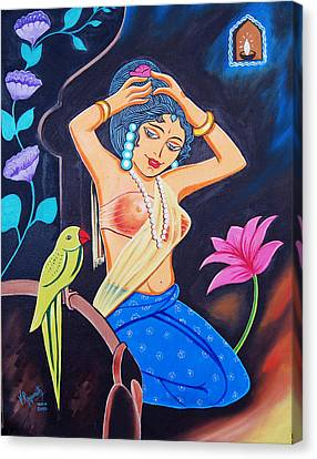 Canvas Print featuring the painting A Life In Colour by Ragunath Venkatraman