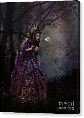 Canvas Print featuring the digital art A Little Bird Told Me by Shanina Conway