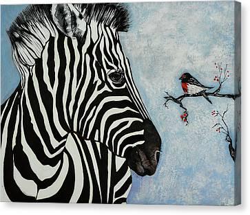 A Little Bird Told Me Canvas Print by Susan Robinson