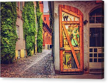 A Little Corner Of Riga  Canvas Print