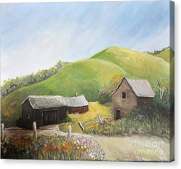 A Little Country Scene Canvas Print by Reb Frost