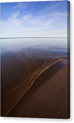 Canvas Print featuring the photograph A Little Lip, Lake Superior by Jane Melgaard