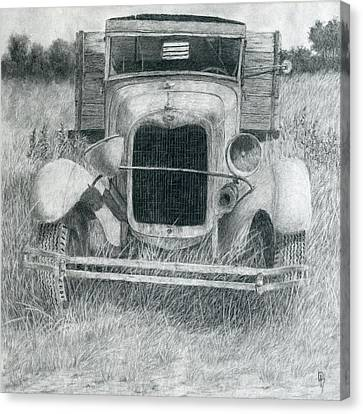 Old Trucks Canvas Print - A Little Loopy by David King
