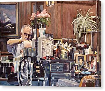 Hair Cuts Canvas Print - A Little Off The Top by Deb Putnam