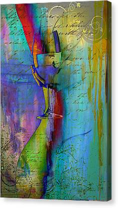 Canvas Print featuring the digital art A Little Wining by Greg Sharpe