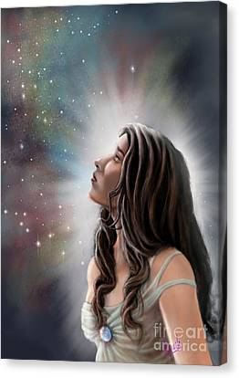 Canvas Print featuring the painting A Longing For The Stars by Amyla Silverflame