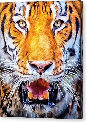 Tiger Canvas Print - A Look Into The Tiger's Eyes Large Canvas Art, Canvas Print, Large Art, Large Wall Decor, Home Decor by David Millenheft