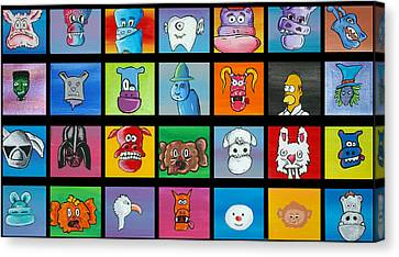 A Lot Of Character Canvas Print by Jera Sky