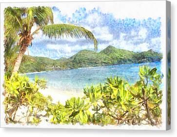 A Lovely Tropical Paradise Canvas Print by Ashish Agarwal