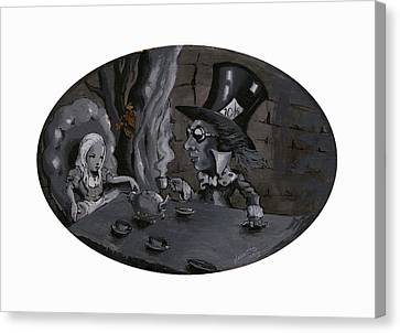 Mad Hatter Canvas Print - A Mad Tea Party by Luis  Navarro