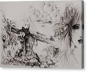 A Man Of Sorrows Canvas Print