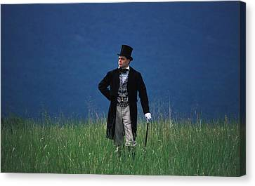 A Man Outstanding In His Field Canvas Print