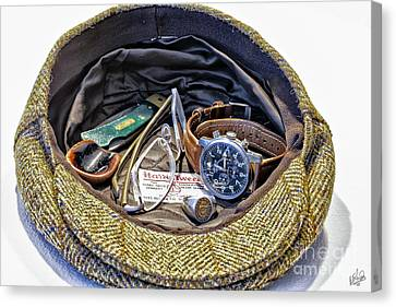Canvas Print featuring the photograph A Man's Items by Walt Foegelle