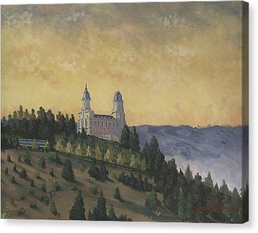 A Manti  Morning Canvas Print by Jeff Brimley