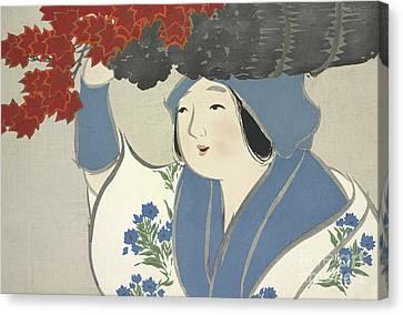 Japanese Maple Canvas Print - A Maple Tree Seller by Kamisaka Sekka