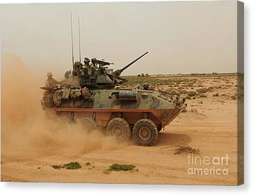 A Marine Corps Light Armored Vehicle Canvas Print by Stocktrek Images