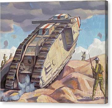 A Mark V Tank Going Into Action, Wwi Canvas Print