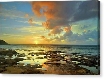 Canvas Print featuring the photograph A Marmalade Sky In Molokai by Tara Turner