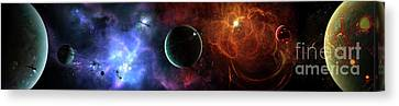 A Massive And Crowded Universe Canvas Print
