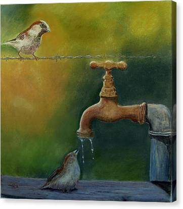 Canvas Print featuring the painting A Matter Of Watter by Ceci Watson