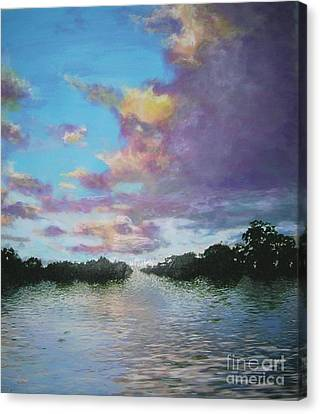 Canvas Print featuring the painting A Mauve Day by Marie-Line Vasseur