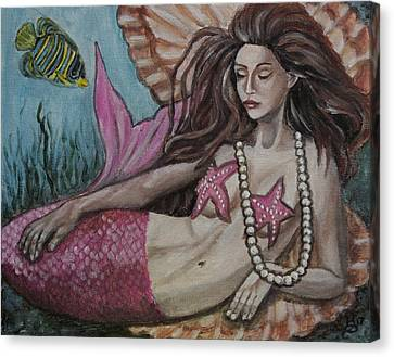 Canvas Print - A Mermaid Named Pearl by Kim Selig